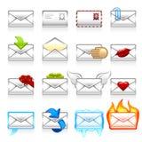 Het pictogramreeks van de post Stock Afbeelding