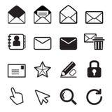 Het pictogramreeks van de post Gelieve te controleren mijn portefeuille meer bedrijfsillustraties Stock Afbeeldingen