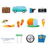 Het pictogramreeks van de reis Stock Foto