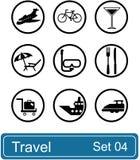 Het pictogramreeks van de reis stock illustratie