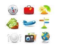 Het pictogramreeks van de reis Stock Foto's