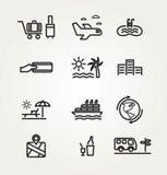 Het pictogramreeks van de reis en van het toerisme Royalty-vrije Stock Foto