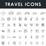 Het pictogramreeks van de reis en van het toerisme Stock Afbeelding