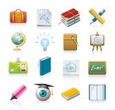 Het pictogramreeks van de school Royalty-vrije Stock Afbeeldingen