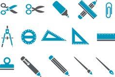 Het pictogramreeks van de school Stock Afbeelding