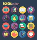 Het pictogramreeks van de school Vectorillustratie, eps10, Stock Foto