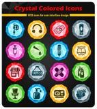 Het pictogramreeks van de tatoegeringssalon Royalty-vrije Stock Foto
