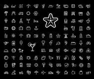 Het pictogramreeks van de vakantiereis Stock Afbeeldingen