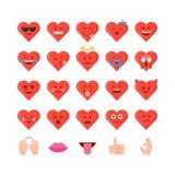 Het pictogramreeks van de valentijnskaartendag emoticon stock illustratie