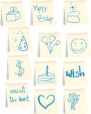 Het pictogramreeks van de verjaardag Stock Afbeelding