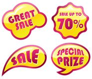 Het pictogramreeks van de verkoop stock illustratie