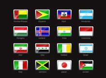 Het pictogramreeks van de vlag (deel 5) Stock Afbeelding