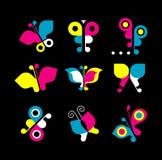 Het pictogramreeks van de vlinder Royalty-vrije Stock Fotografie