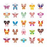 Het pictogramreeks van de vlinder Stock Fotografie