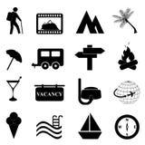 Het pictogramreeks van de vrije tijd en van de recreatie Stock Foto