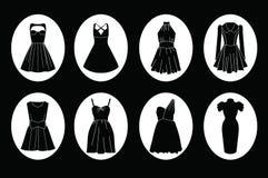Het pictogramreeks van de vrouwenkleding Royalty-vrije Stock Afbeeldingen
