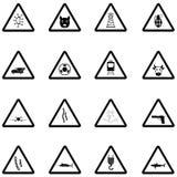 Het pictogramreeks van de waarschuwing stock illustratie
