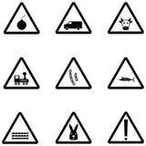 Het pictogramreeks van de waarschuwing vector illustratie