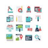 Het Pictogramreeks van de Webontwikkeling Stock Afbeeldingen