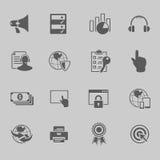 Het pictogramreeks van de Webtechnologie Stock Foto