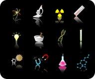 Het pictogramreeks van de wetenschap Stock Foto