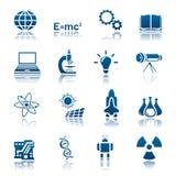 Het pictogramreeks van de wetenschap & van de technologie Stock Foto
