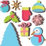 Het pictogramreeks van de winter Stock Afbeeldingen