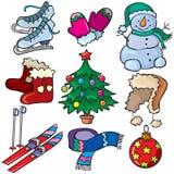 Het pictogramreeks van de winter Stock Foto's