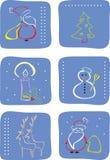 Het pictogramreeks van de winter Stock Fotografie