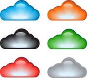 Het pictogramreeks van de wolk Royalty-vrije Stock Foto's