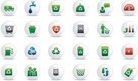 Het pictogramreeks van Eco Stock Afbeelding
