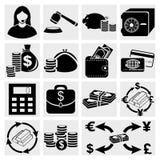 Het pictogramreeks van financiën stock illustratie