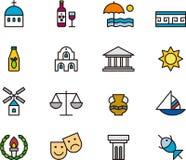 Het pictogramreeks van Griekenland Royalty-vrije Stock Fotografie