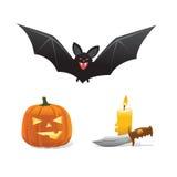 Het pictogramreeks van Halloween Stock Fotografie