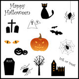Het pictogramreeks van Halloween Royalty-vrije Stock Afbeeldingen