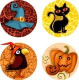 Het pictogramreeks van Halloween vector illustratie