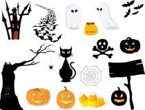 Het pictogramreeks van Halloween. Stock Afbeeldingen