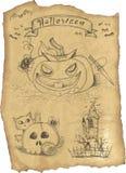 Het pictogramreeks van Halloween grunge Royalty-vrije Stock Foto's