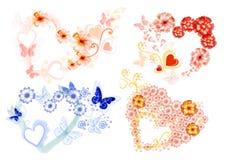 Het pictogramreeks van harten Stock Foto's