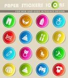 Het pictogramreeks van het babyspeelgoed Stock Foto's