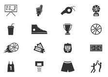 Het pictogramreeks van het basketbal Royalty-vrije Stock Fotografie