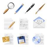 Het pictogramreeks van het bureau Royalty-vrije Stock Afbeeldingen