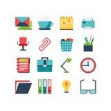 Het pictogramreeks van het bureau Stock Afbeeldingen