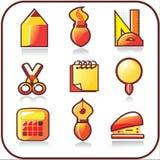 Het pictogramreeks van het bureau Vector Illustratie
