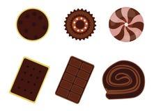 Het pictogramreeks van het dessert Vector Illustratie