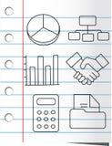 Het pictogramreeks van het document Stock Foto