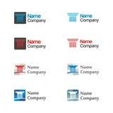 Het pictogramreeks van het embleem Royalty-vrije Stock Foto's
