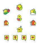Het pictogramreeks van het huis Royalty-vrije Stock Foto's