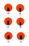 Het pictogramreeks van het insect Stock Afbeelding