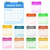 Het Pictogramreeks van het kalenderaantal Royalty-vrije Stock Foto's